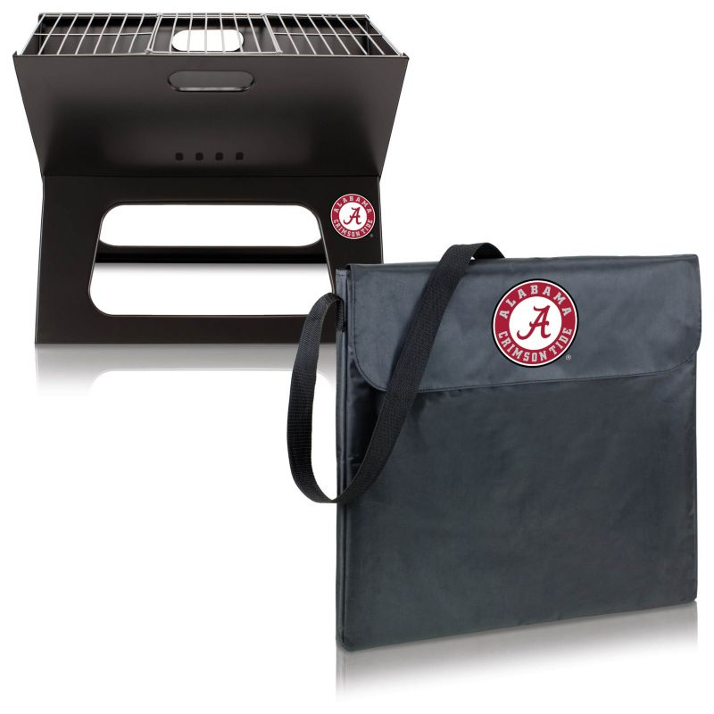 Picnic Time Alabama Crimson Tide Portable X-Grill, Black thumbnail
